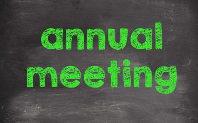 August 2017 Board Meeting (HOA Annual Meeting)